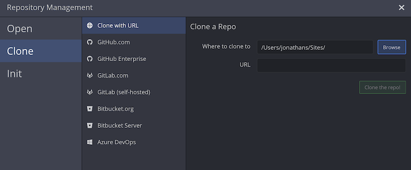 Open, Clone, and Init