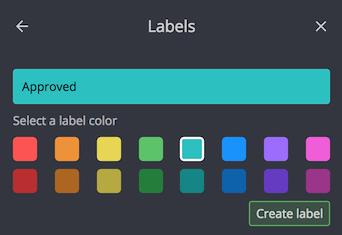 Adding a label