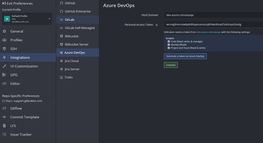 Azure DevOps - GitKraken Documentation - make a change to an