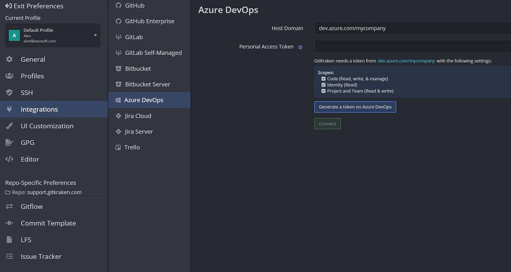 Azure DevOps - GitKraken Documentation - make a change to an