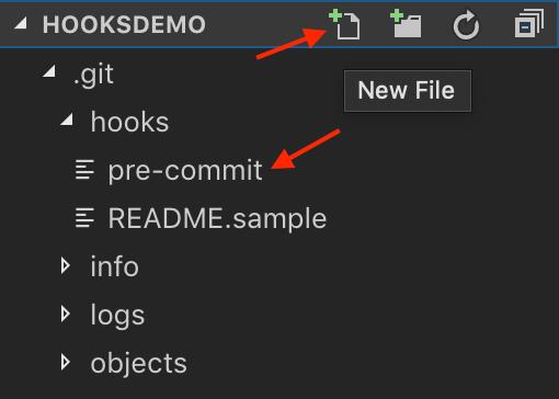 Git hooks example